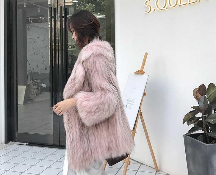 Knitted Raccoon Fur Jacket 308-2