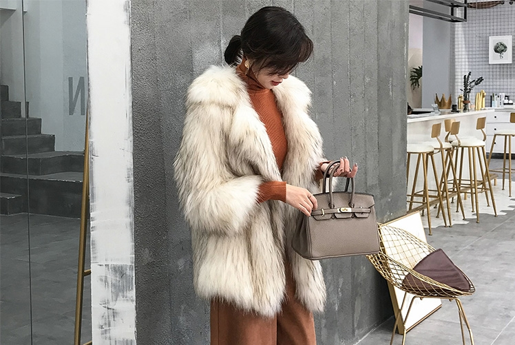 Knitted Raccoon Fur Jacket 308-3