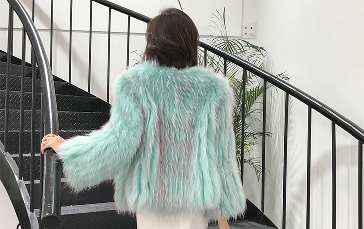 Knitted Raccoon Fur Cropped Jacket 312-6