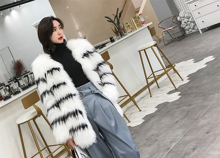 Knitted Fox Fur Jacket 316-1