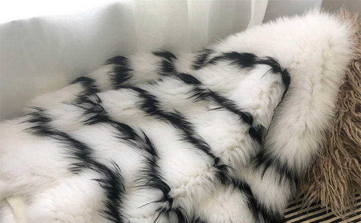 Knitted Fox Fur Jacket 316-2