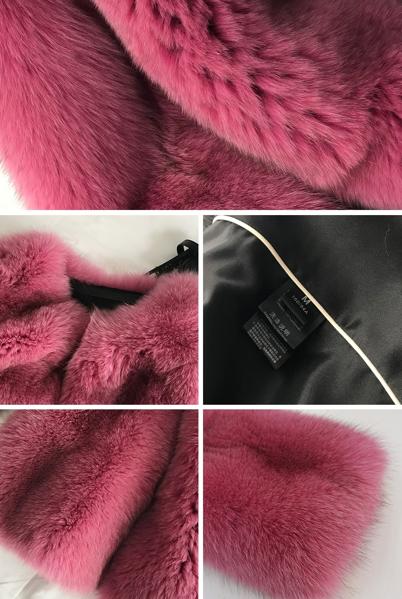 Fox Fur Coat-Hot Pink 320-3