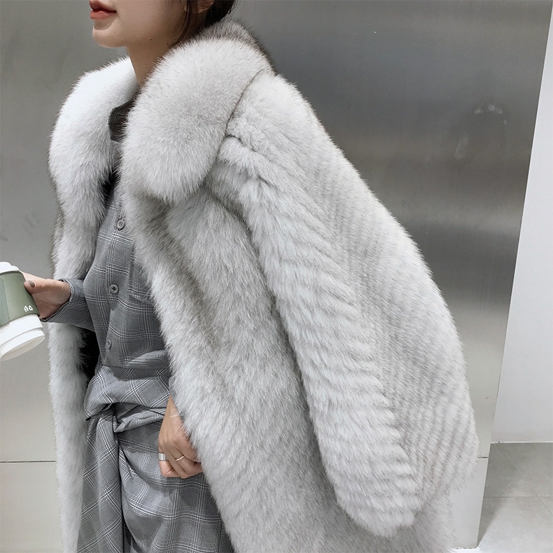 Fox Fur Long Coat 325-4