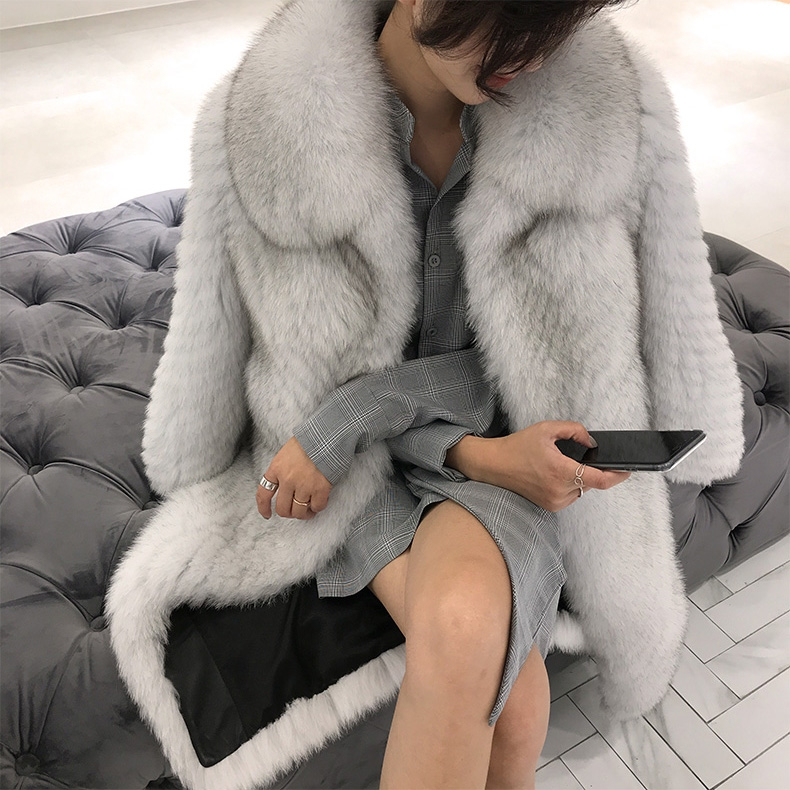 Fox Fur Long Coat 325-6
