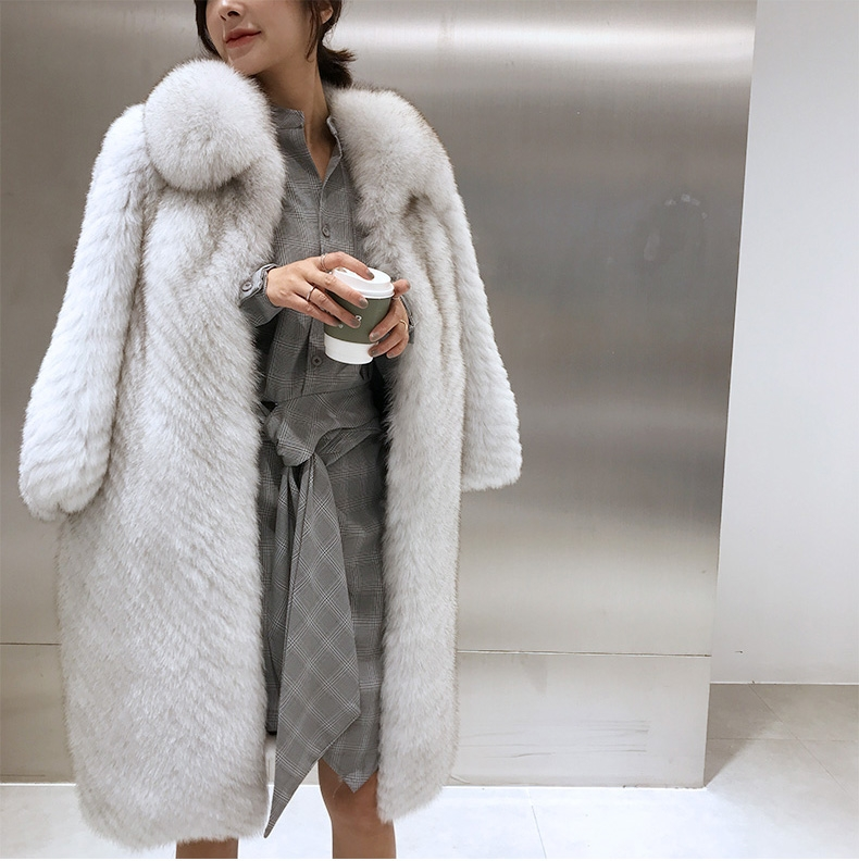 Fox Fur Long Coat 325-7