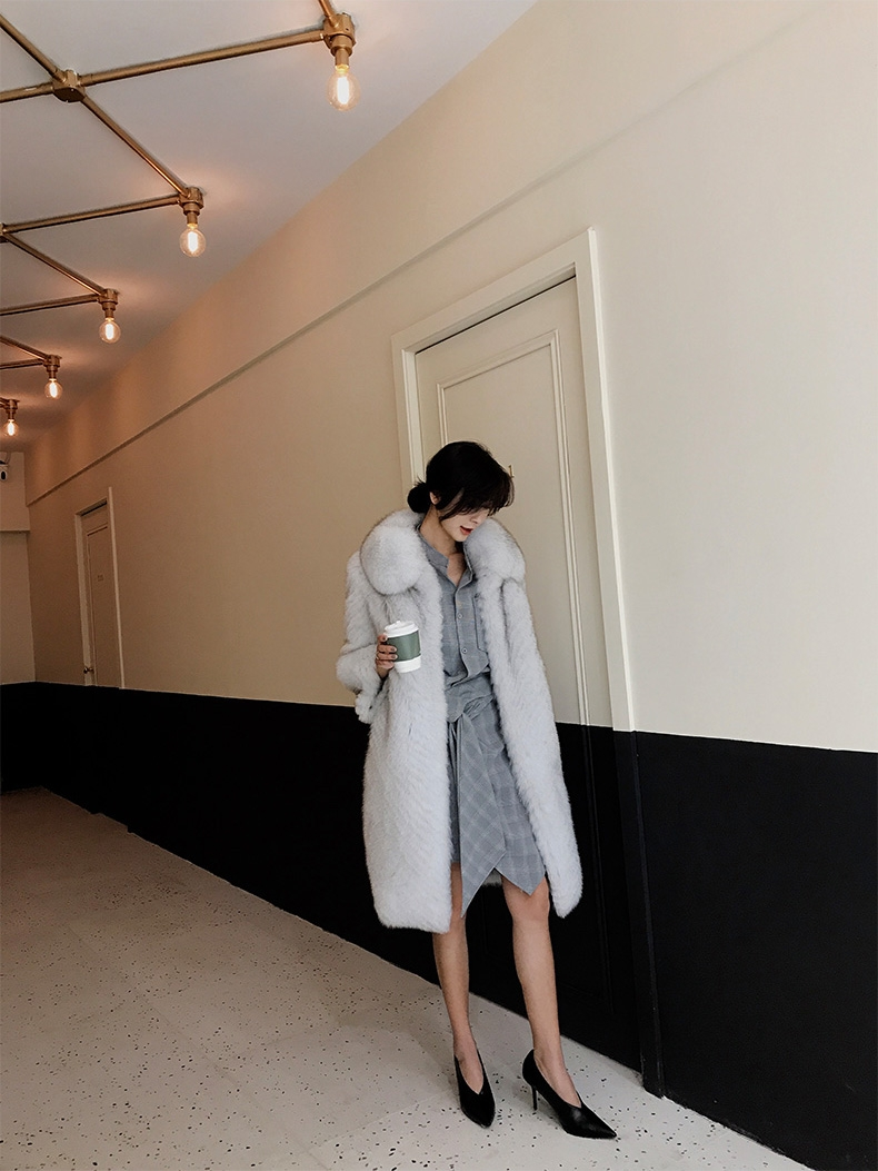 Fox Fur Long Coat 325-9