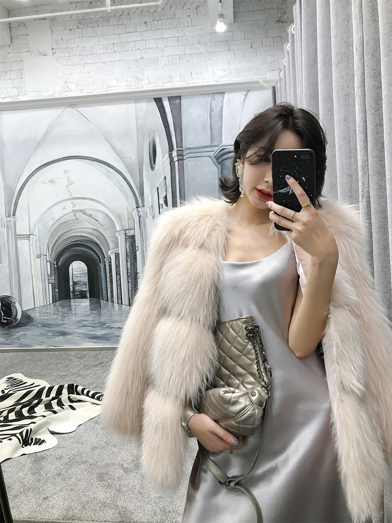 Arctic Marble Fox Fur Jacket 328-1