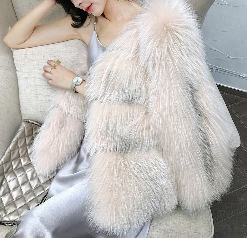 Arctic Marble Fox Fur Jacket 328-2