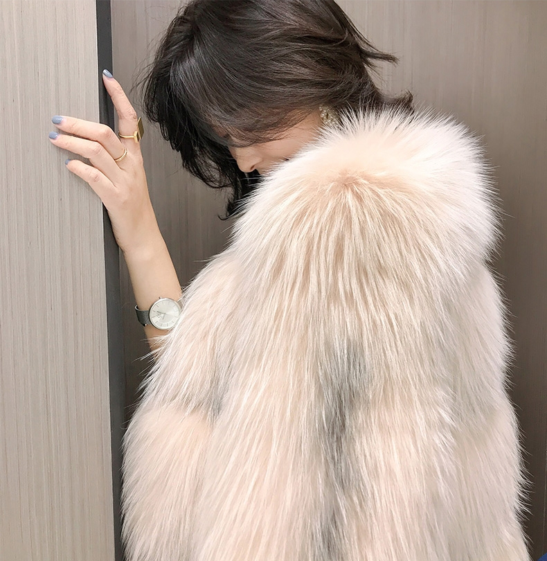 Arctic Marble Fox Fur Jacket 328-3