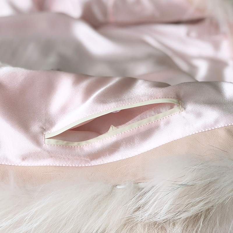 Arctic Marble Fox Fur Jacket 328-6