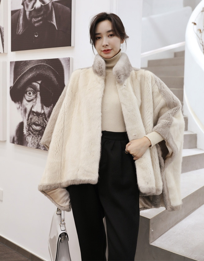 Mink Fur Cape 345-1