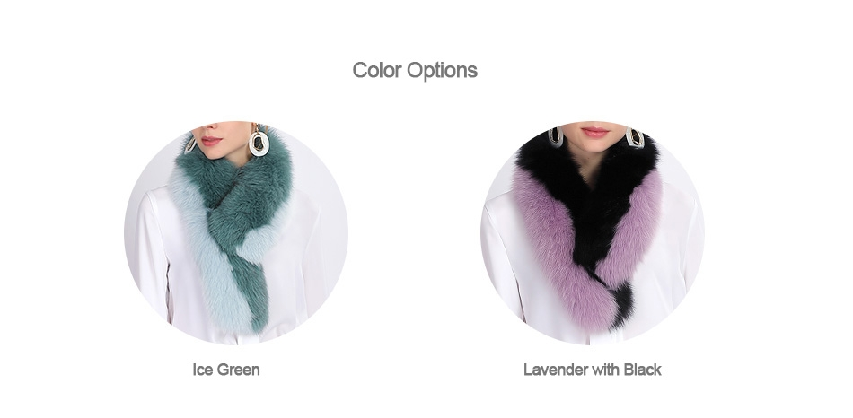 Two-tone Fox Fur Scarf 370-1