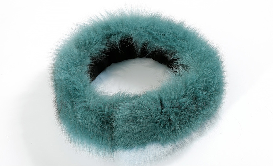 Two-tone Fox Fur Scarf 370-2