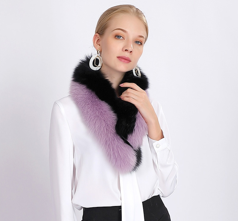 Two-tone Fox Fur Scarf 370-7