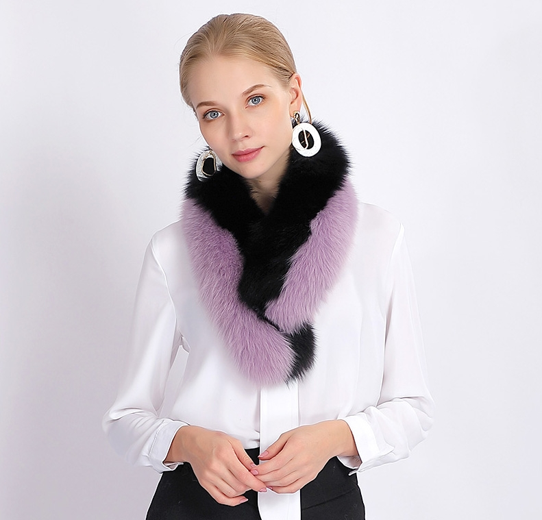 Two-tone Fox Fur Scarf 370-8