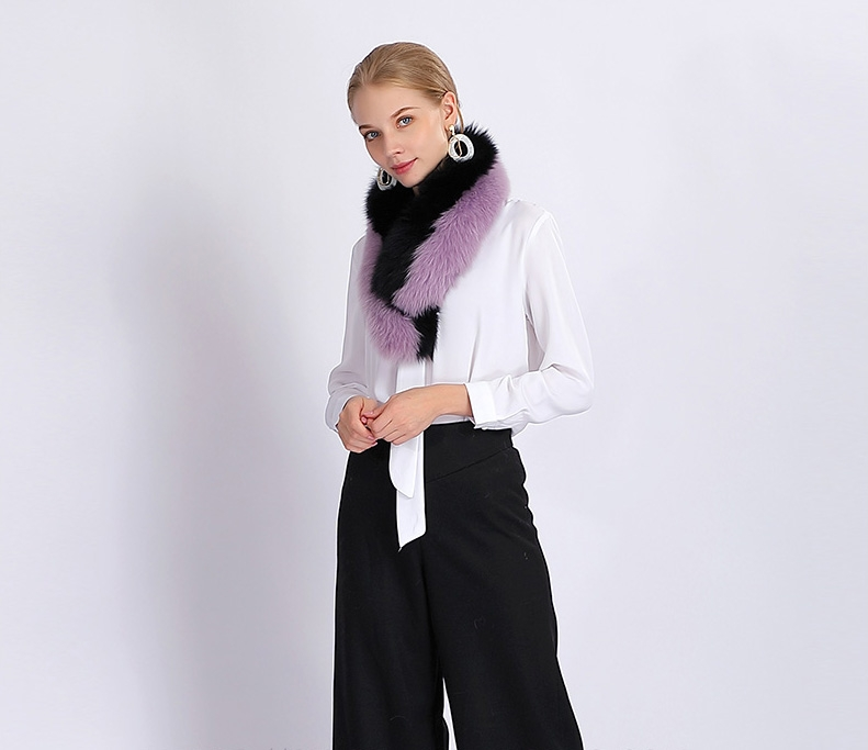 Two-tone Fox Fur Scarf 370-9