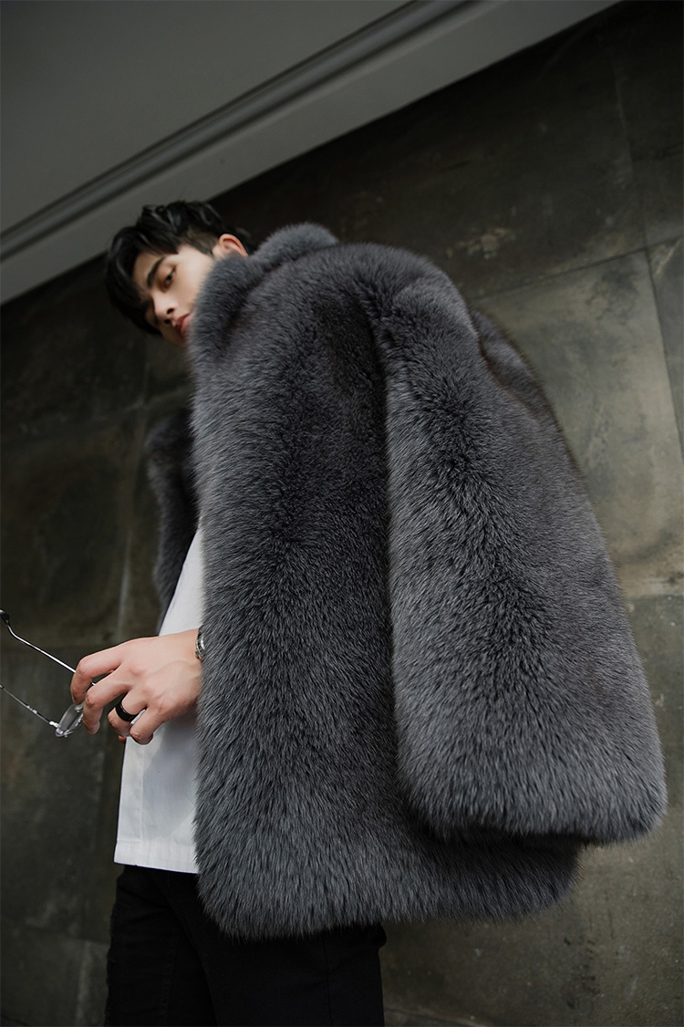 Men's Fox Fur Coat 379-10