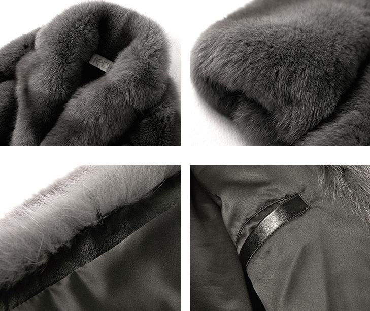 Men's Fox Fur Coat 379-5