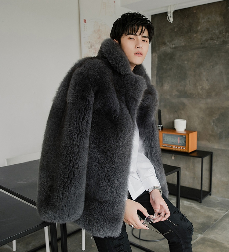 Men's Fox Fur Coat 379-6