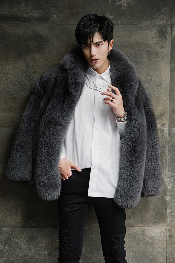 Men's Fox Fur Coat 379-9
