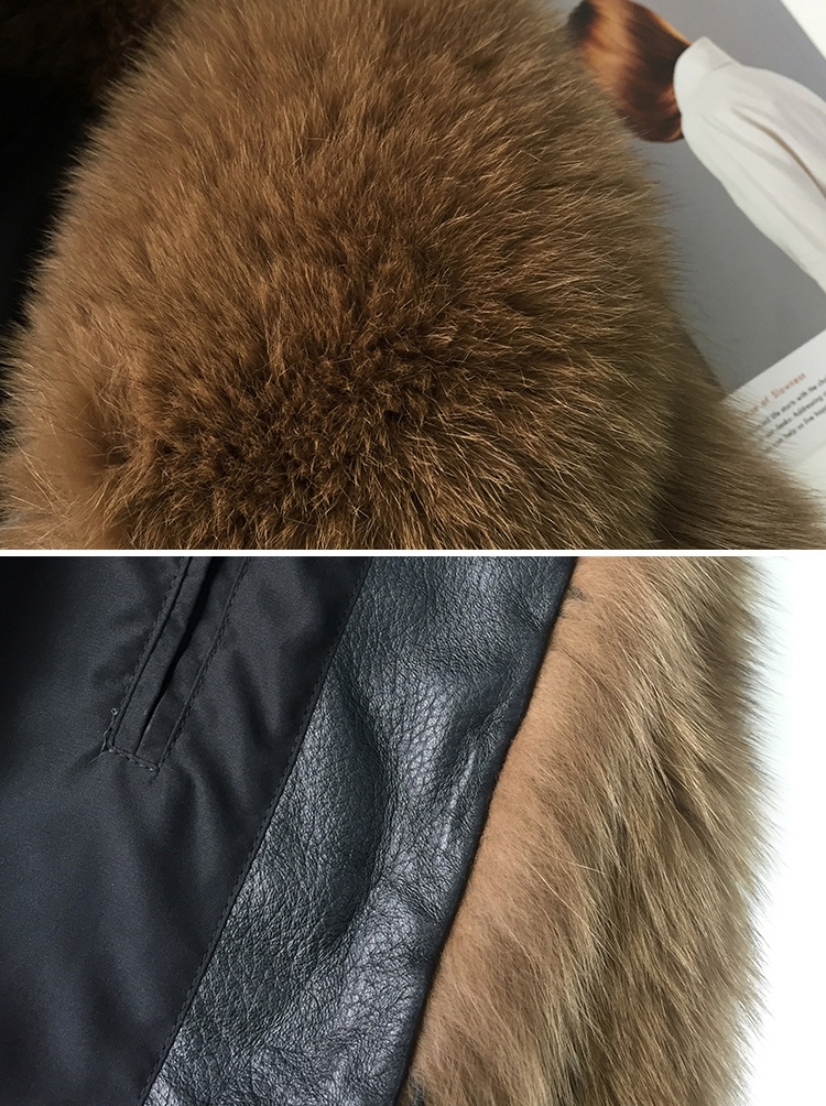 Men's Fox Fur Bomber Jacket 387-7
