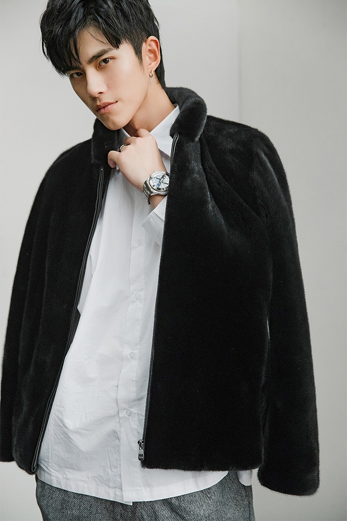 Men's Mink Fur Jacket 391-11