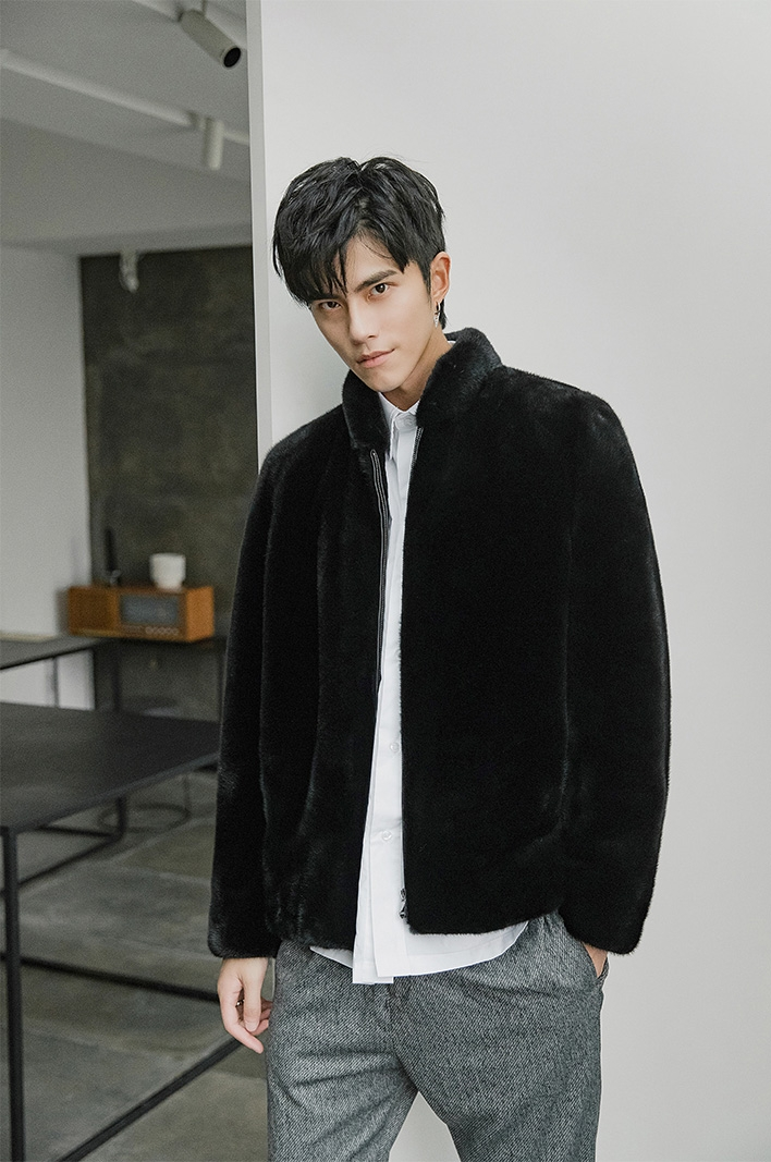 Men's Mink Fur Jacket 391-7