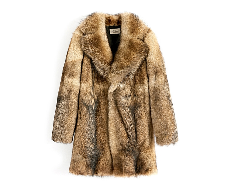 Men's Coyote Fur Coat 392-1