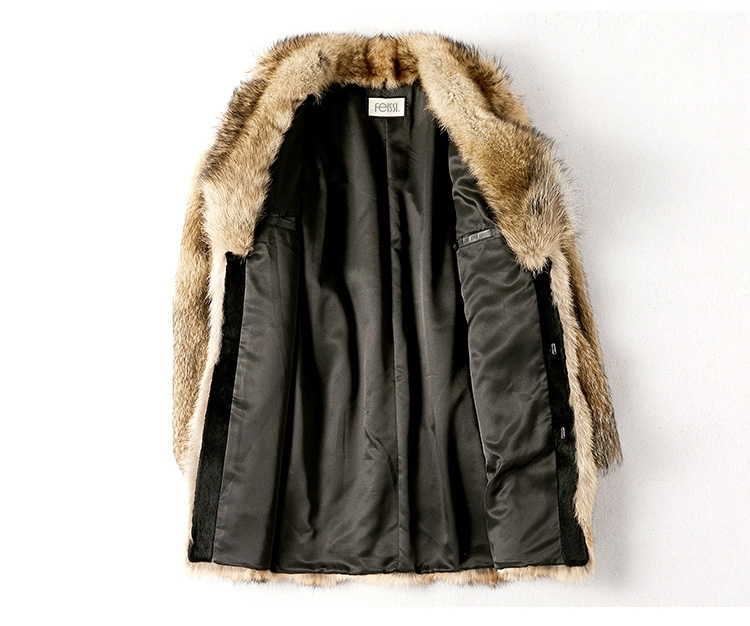 Men's Coyote Fur Coat 392-2