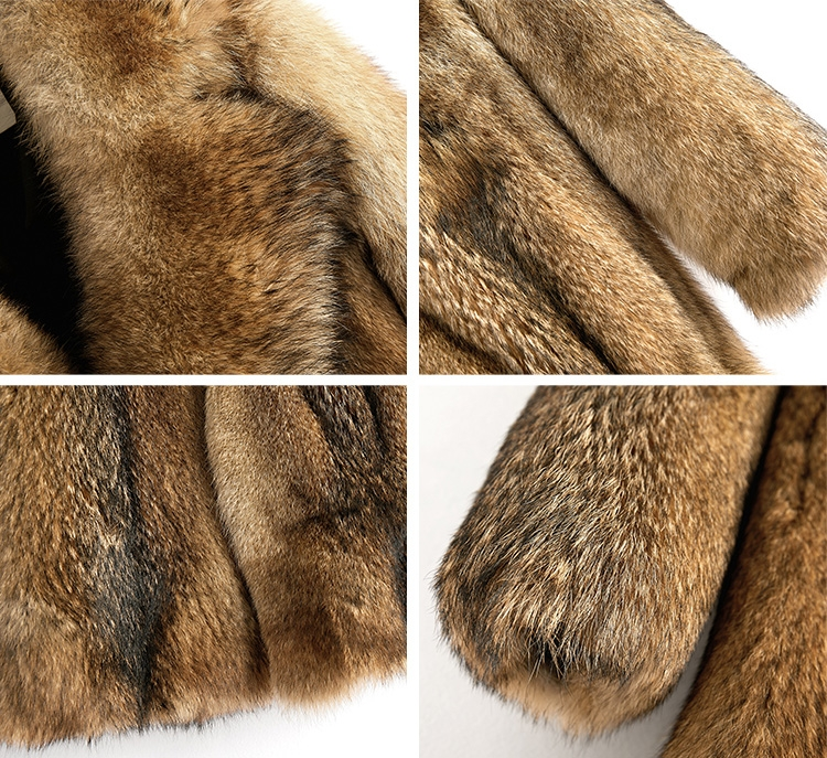 Men's Coyote Fur Coat 392-4