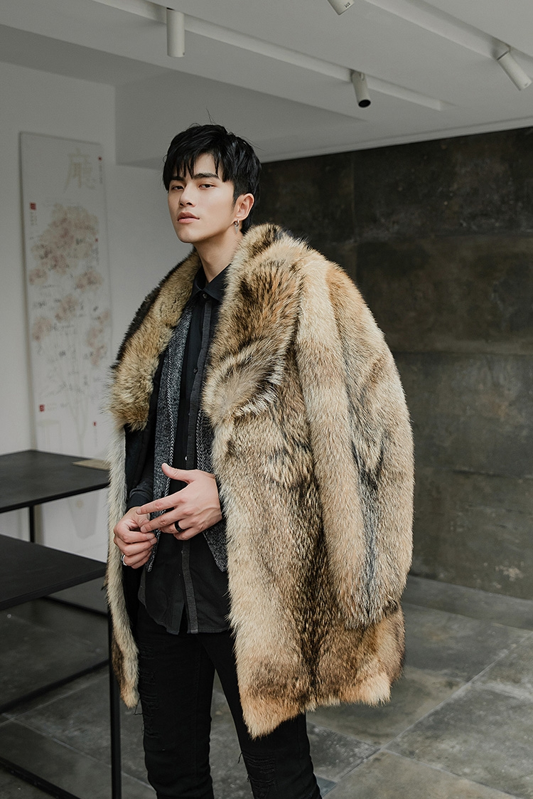 Men's Coyote Fur Coat 392-7