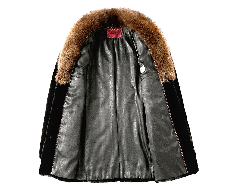 Men's Mink Fur Coat 394-2