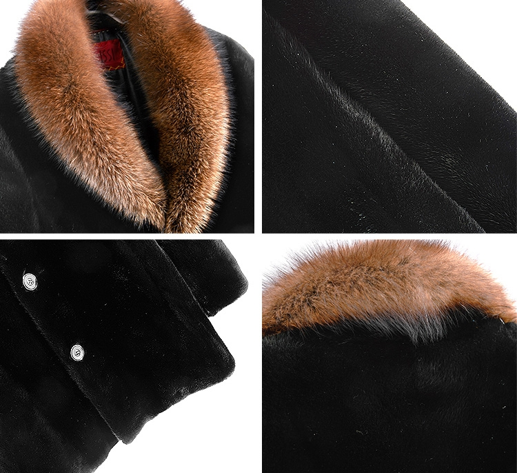 Men's Mink Fur Coat 394-4
