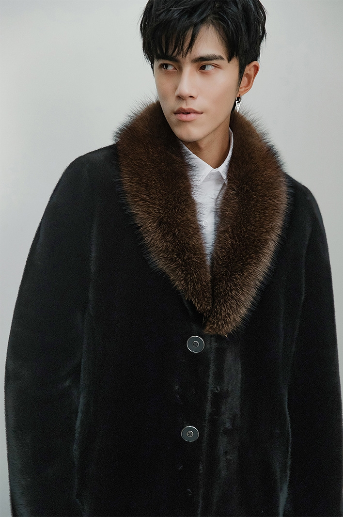 Men's Mink Fur Coat 394-6