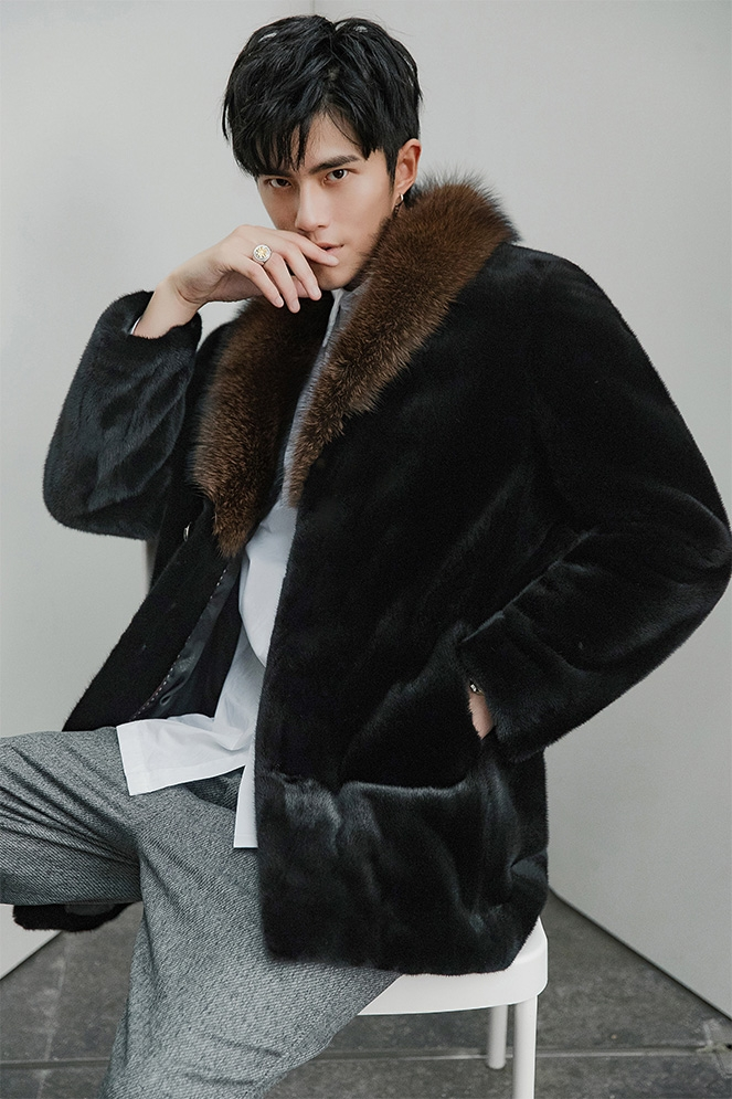 Men's Mink Fur Coat 394-7