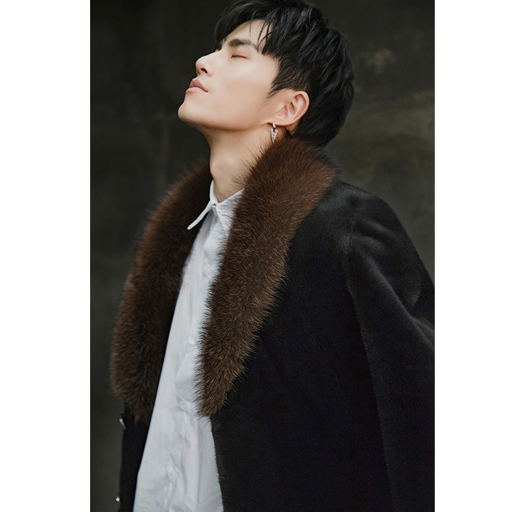 Men's Mink Fur Coat 394-8