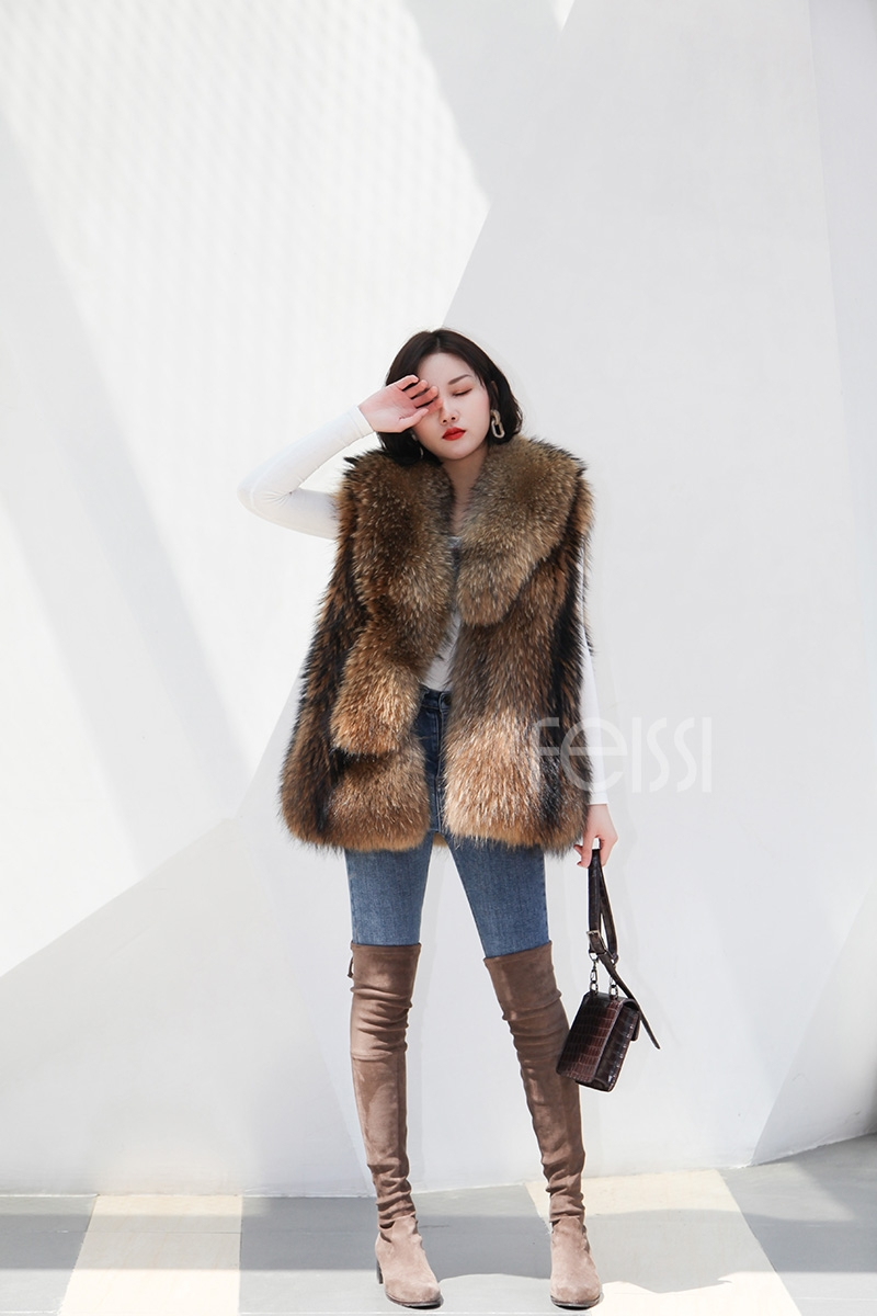 Raccoon Fur Vest 398-1