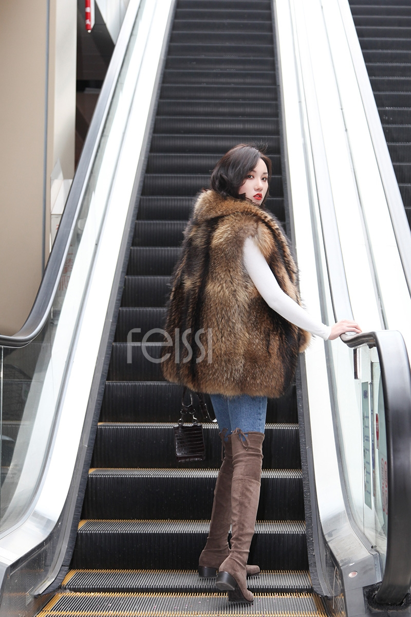 Raccoon Fur Vest 398-10