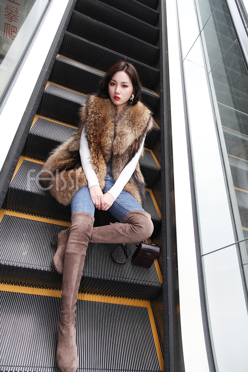 Raccoon Fur Vest 398-11