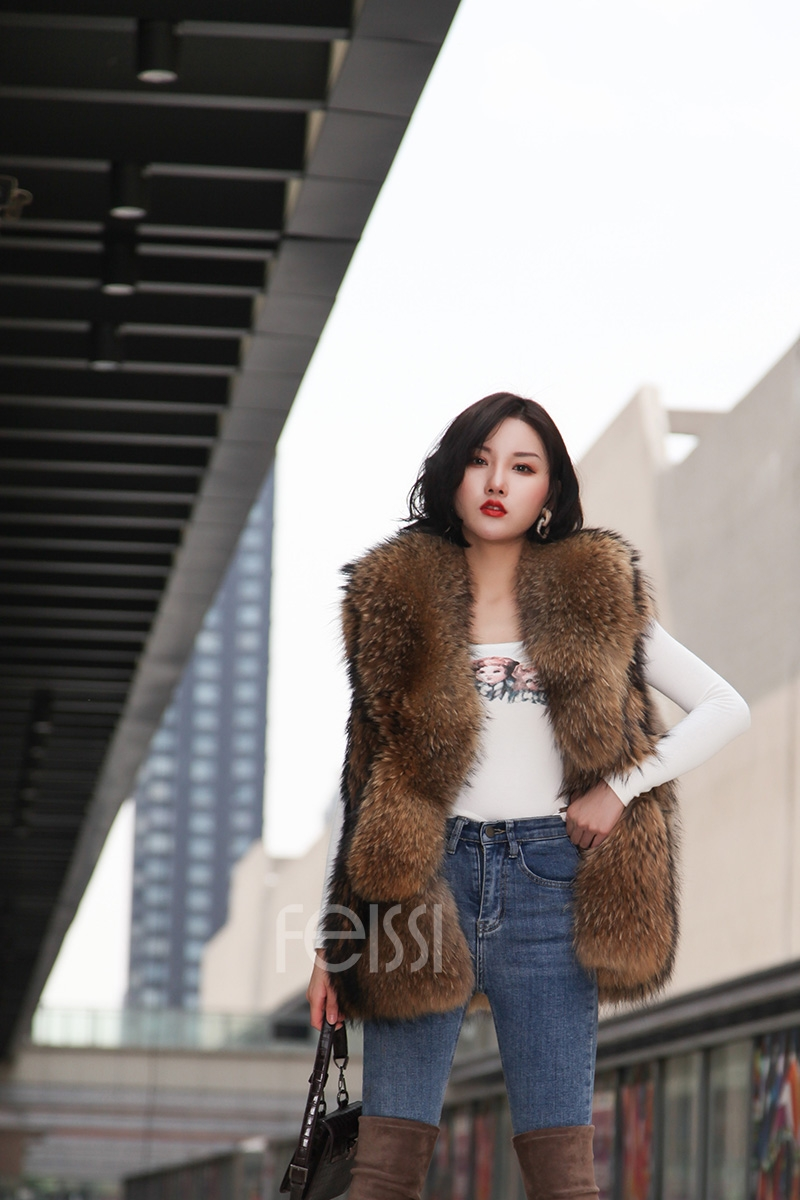 Raccoon Fur Vest 398-12