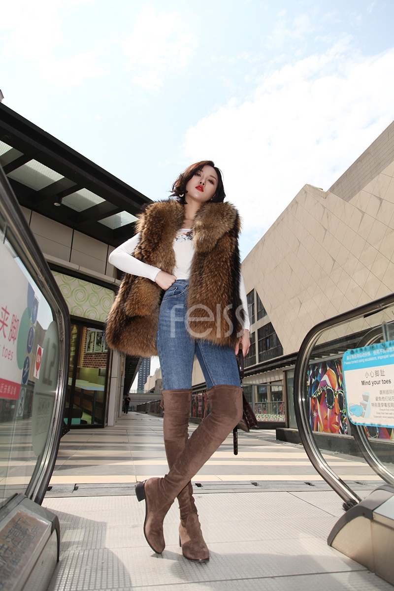 Raccoon Fur Vest 398-13