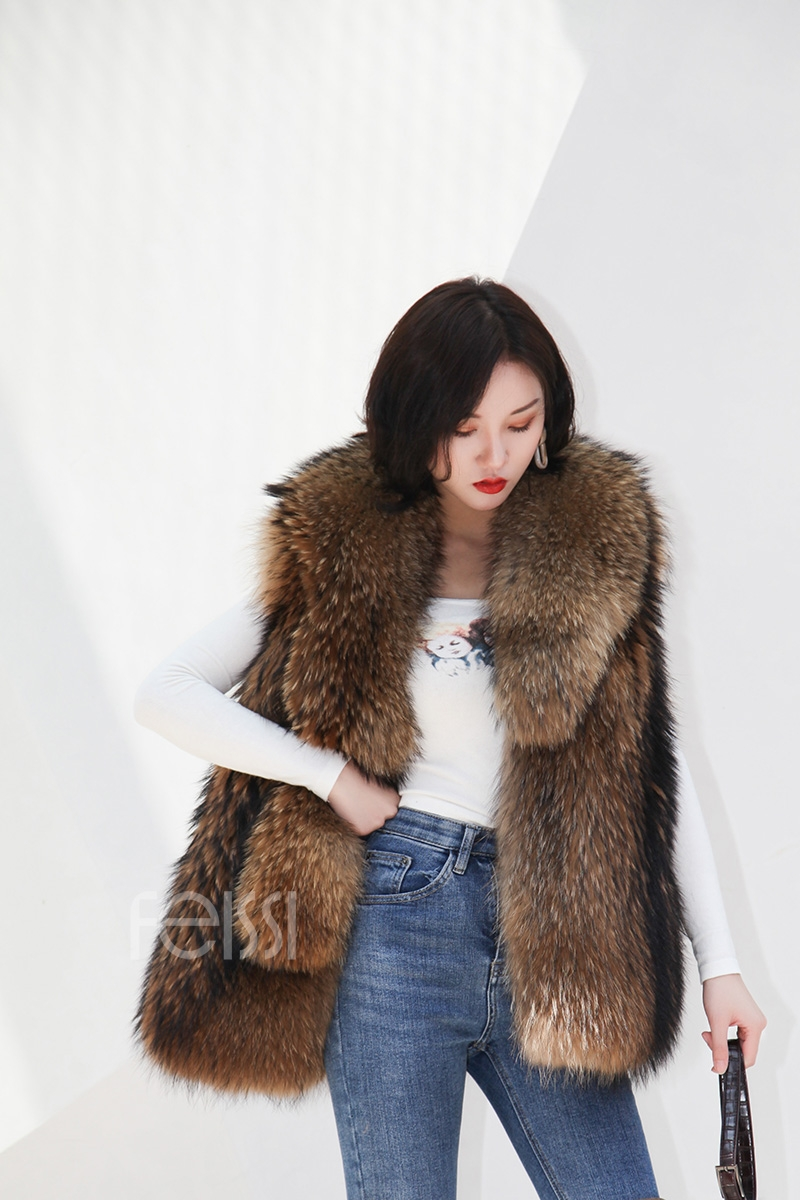 Raccoon Fur Vest 398-2