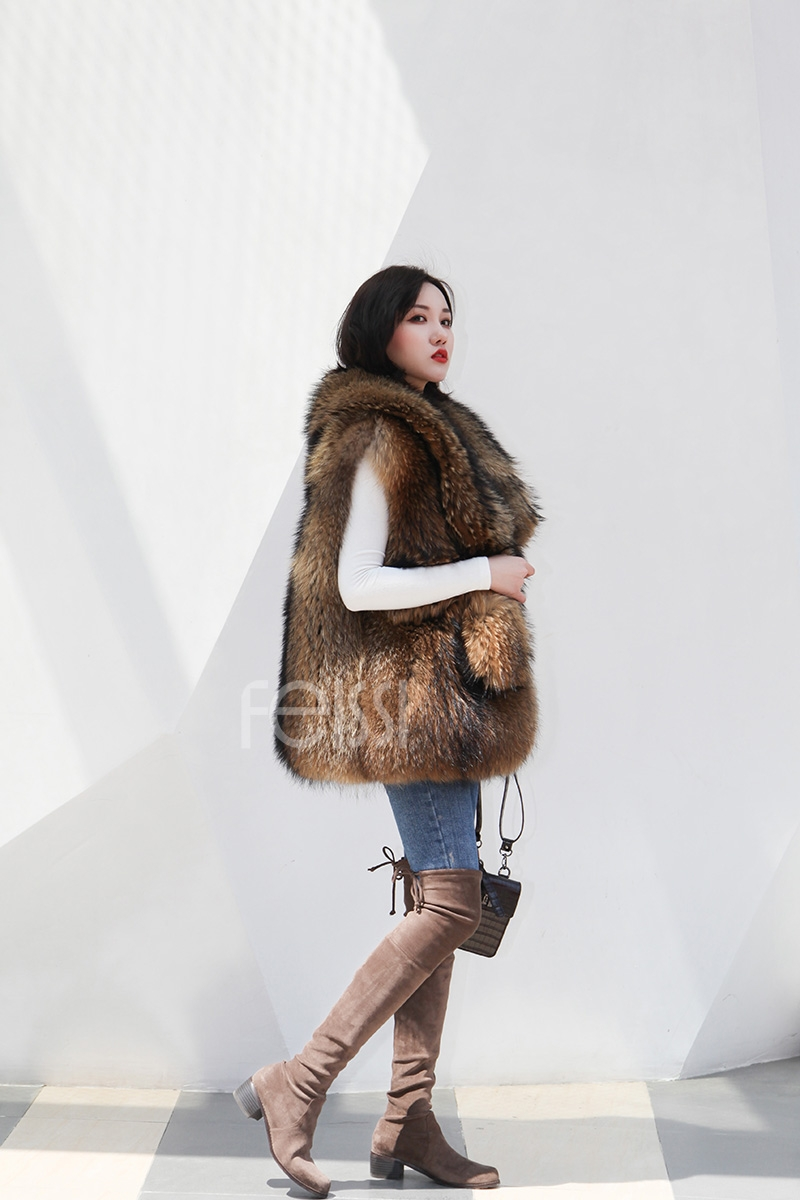 Raccoon Fur Vest 398-3