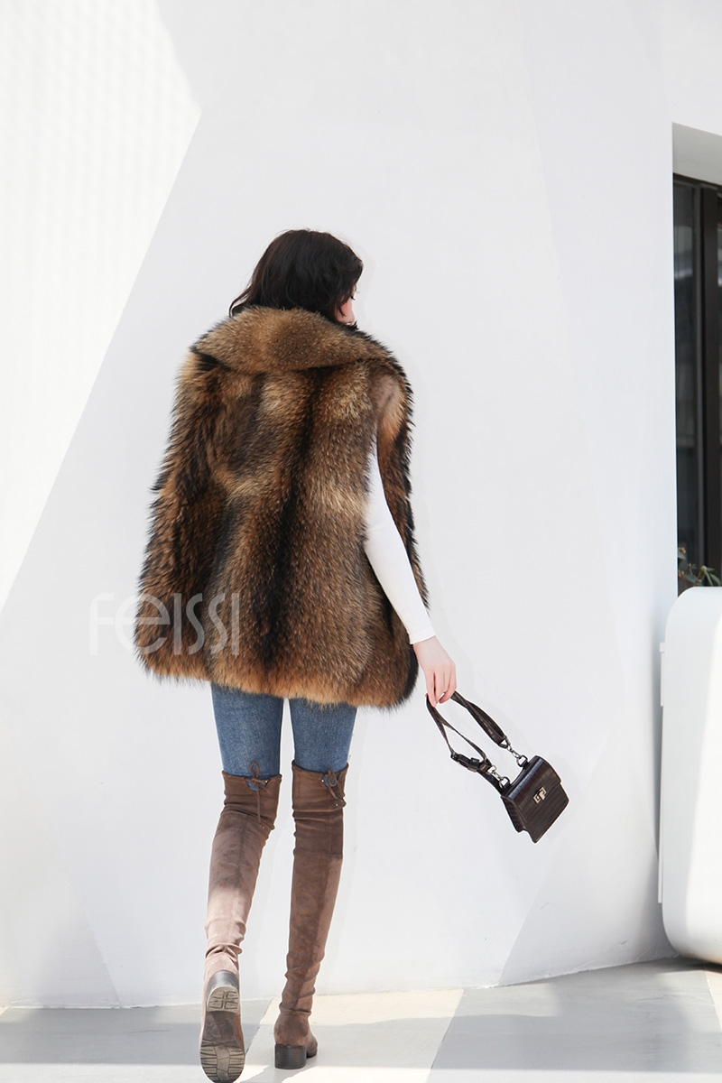 Raccoon Fur Vest 398-4