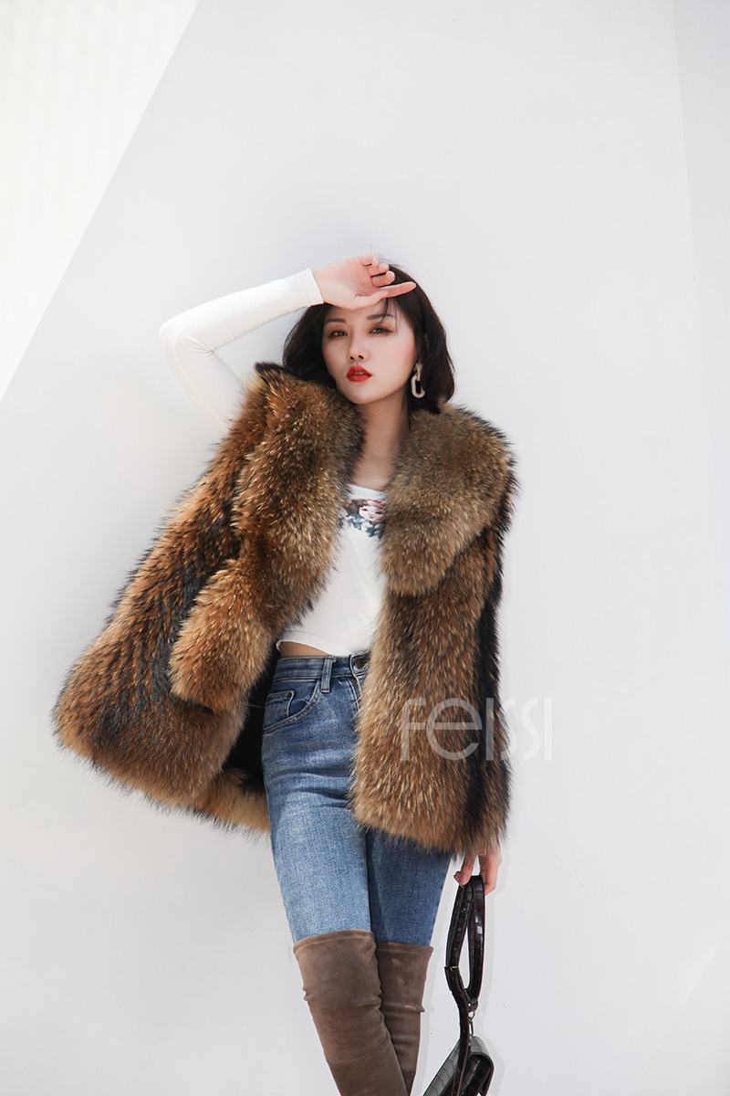 Raccoon Fur Vest 398-5