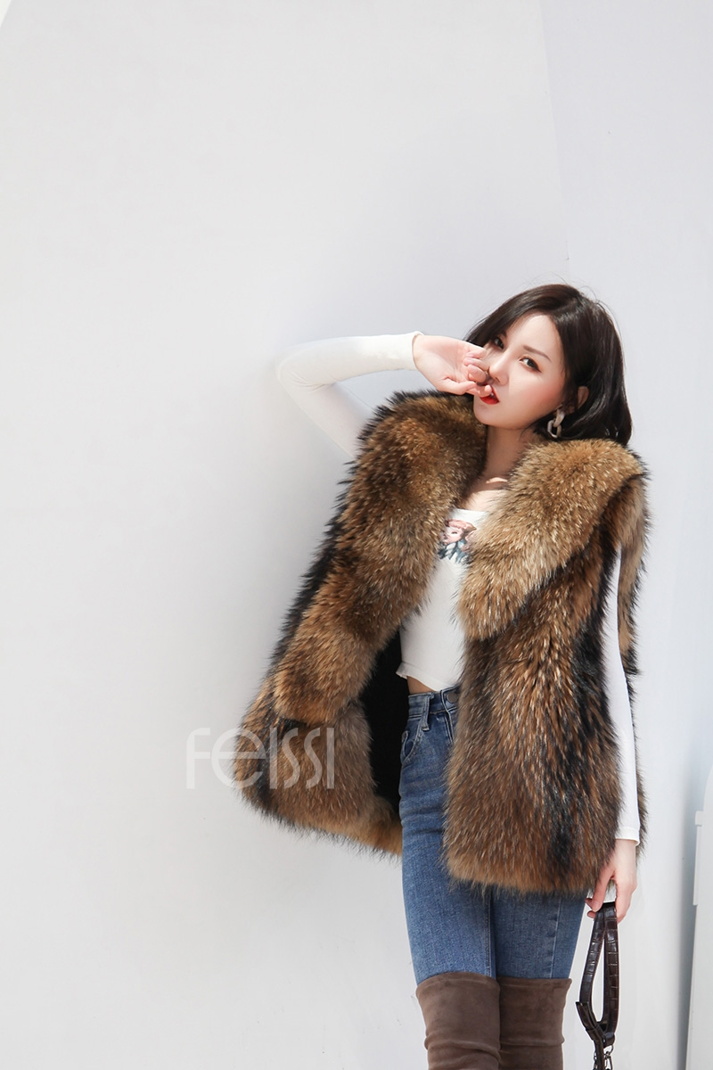 Raccoon Fur Vest 398-6