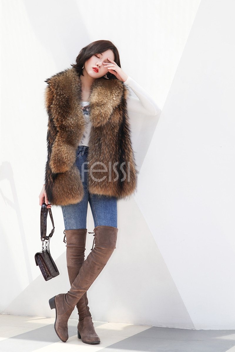 Raccoon Fur Vest 398-7