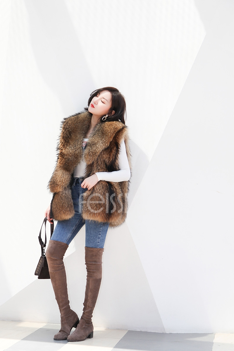 Raccoon Fur Vest 398-8
