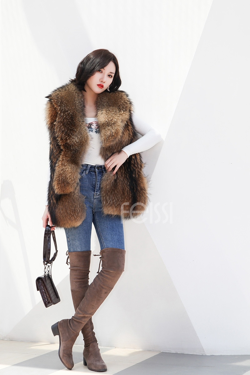 Raccoon Fur Vest 398-9