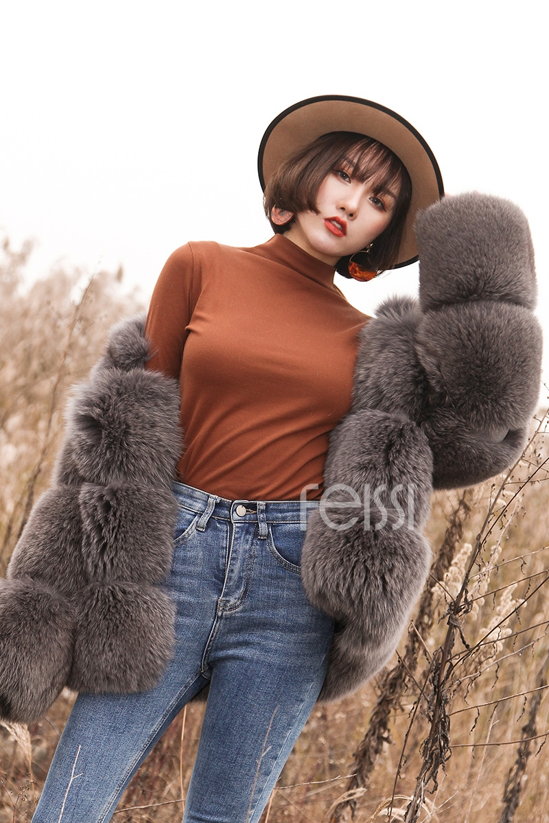 Fox Fur Coat 883b Details 11